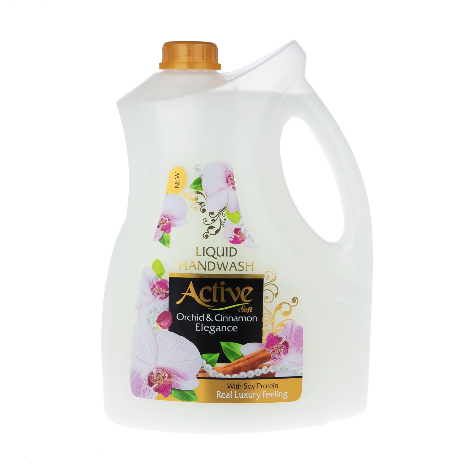 مایع دستشویی اکتیو مدل orchid & cinnamon حجم 3750 میلی لیتر