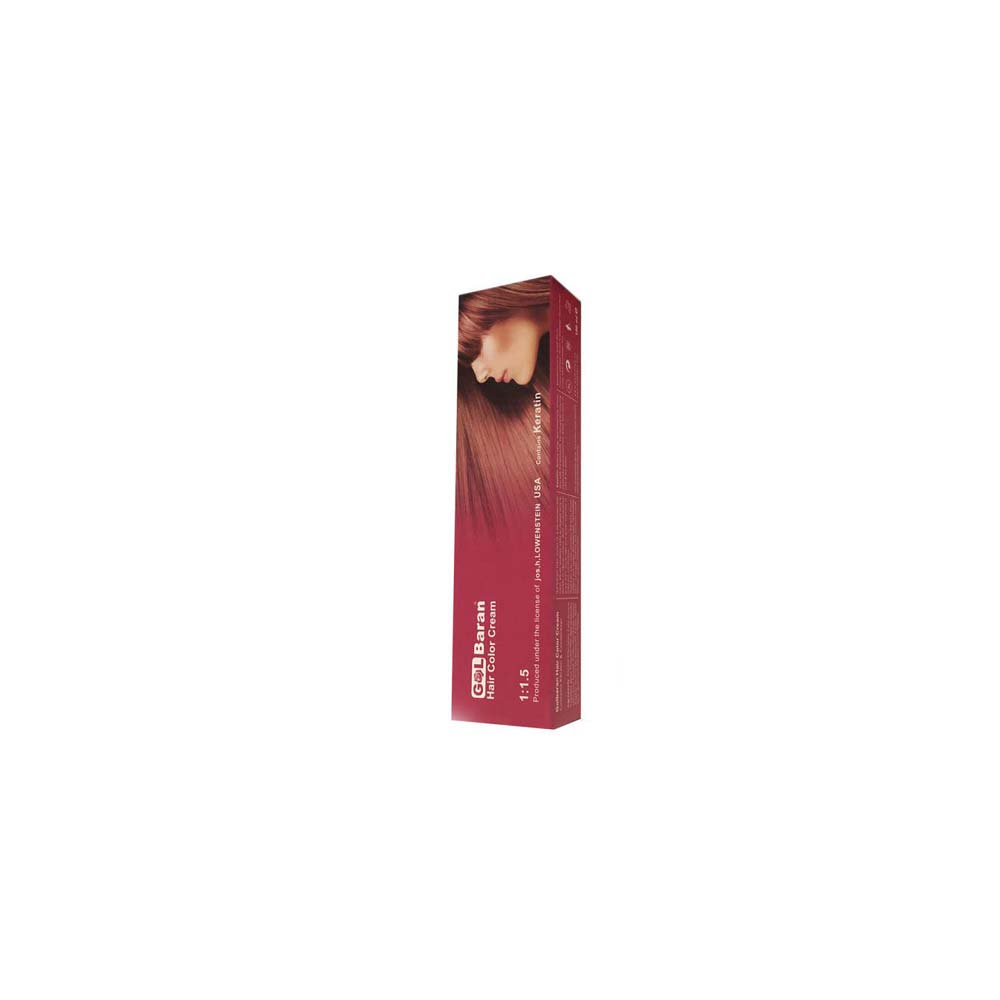 رنگ مو گلباران شماره 5،00حجم 125 میلی لیتر رنگ قهوه ای روشن ( قوی)