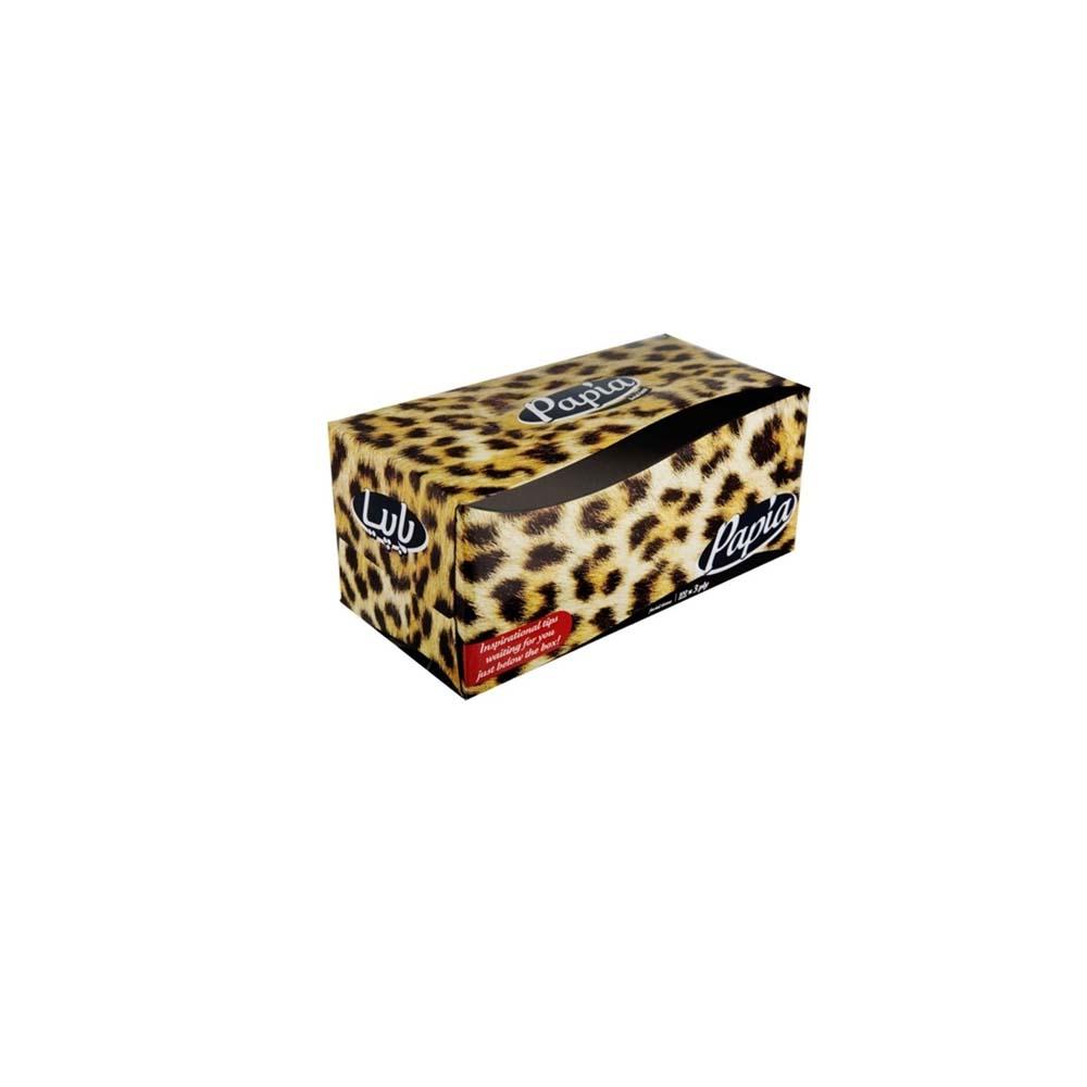 دستمال کاغذی 300برگ پاپیا مدل Tiger